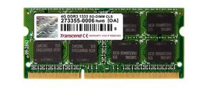 Transcend Apple Series 4GB / DDR3 / 1333MHz / CL9 / SODIMM / 2Rx8