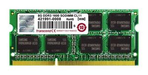 Transcend Apple Series 8GB / DDR3 / 1600MHz / CL11 / SODIMM / 2Rx8