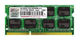 Transcend Apple Series 8GB / DDR3 / 1333MHz / CL9 / SODIMM / 2Rx8