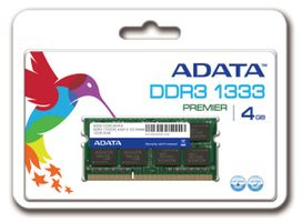 ADATA 4GB / 1333MHz / DDR3 / CL9 / SODIMM / 1.5V / Retail