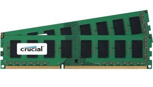 Crucial 2x4GB / 2133MHz / DDR4 / CL15 / Single Ranked / UDIMM / 1.2V