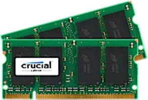 CRUCIAL 8GB / 2x4GB / DDR2 SO-DIMM / 800MHz / PC2-6400 / CL6 / 1.80V