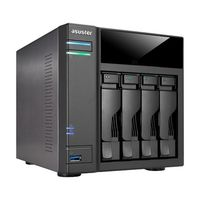 Asustor AS6104T / 4x HDD / Intel Celeron 1.6GHz Dual-Core  / 2GB RAM / 2x USB 3.0 / 2x USB 2.0 / GLAN / HDMI / S/PDIF