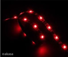 AKASA AK-LD02-05RD Vegas LED strip light / LED zářivka / 15xLED / 12V / 60cm / červená