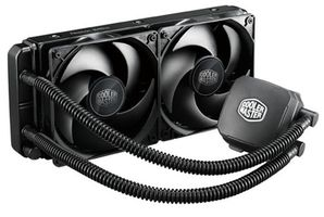Cooler Master Nepton 240M / 2x 120 mm / Loop Dynamic Bearing / 27 dB @ 2400 RPM / 76 CFM / Intel + AMD