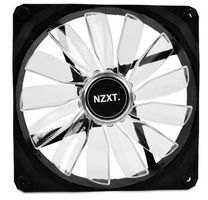 NZXT FZ 140 LED White / 140mm / Long Life Bearing / 24.5dB @ 1000RPM / 83.6CFM / 3-pin