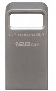 Kingston DataTraveler Micro 3.1 128GB / Flash Disk / USB 3.1 / stříbrný