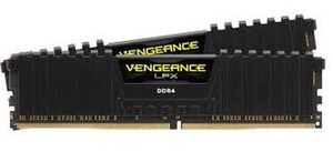 Corsair VENGEANCE LPX BLACK 32GB / 2x16GB / DDR4 /  3000MHz / PC4-24000 / CL15-17-17-35 / 1.35V / XMP2.0 / s chladičem