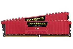 Corsair VENGEANCE LPX RED 32GB / 2x16GB / DDR4 /  3000MHz / PC4-24000 / CL15-17-17-35 / 1.35V / XMP2.0 / s chladičem