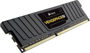Corsair VENGEANCE LP BLACK 4GB / DDR3L / 1600MHz / PC3-12800 / CL9-9-9-24 / 1.35V / XMP / s chladičem