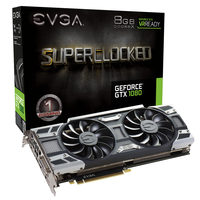EVGA GeForce GTX 1080 SC GAMING ACX 3.0 / 1708-1847MHz / 8GB D5X 10GHz / 256-bit / DVI, HDMI, 3x DP / 225W (8)
