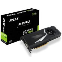 MSI GeForce GTX 1080 AERO 8G OC / 1632-1771MHz / 8GB D5X 10GHz / 256-bit / DVI, HDMI, 3x DP / 225W (8)