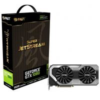 PALIT GeForce GTX 1080 Super JetStream / 1708-1847MHz / 8GB D5X 10GHz / 256-bit / DVI + HDMI + 3x DP / 300W (8+6)