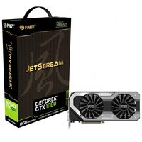 PALIT GeForce GTX 1080 JetStream / 1607-1733MHz / 8GB D5X 10GHz / 256-bit / DVI + HDMI + 3x DP / 300W (8+6)