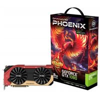 Gainward GeForce GTX 1080 Phoenix GLH / 1746-1885MHz / 8GB D5X 10.5GHz / 256-bit / DVI, HDMI, 3x DP / 300W (8+6)