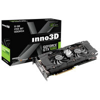 Inno3D GeForce GTX 1080 TWIN X2 / 1607-1733MHz / 8GB D5X 10GHz / 256-bit / DVI, HDMI, 3x DP / 225W (8)