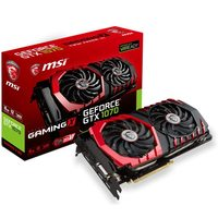 MSI GeForce GTX 1070 GAMING X 8G / 1506-1797MHz / 8GB D5 8.1GHz / 256-bit / DVI, HDMI, 3x DP / 300W (6+8)