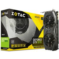 ZOTAC GeForce GTX 1070 AMP Edition / 1607-1797MHz / 8GB D5 8GHz / 256-bit / DVI, HDMI, 3x DP / 375W (8+8)