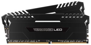 Corsair Vengeance LED16GB (2x8GB) / DDR4 / 2666MHz / C16 / XMP 2.0 / černá / White LED