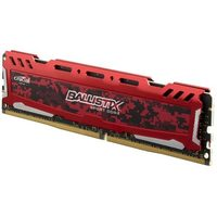 Crucial Ballistix Sport LT 16GB Red / DDR4 / 2400MHz / PC4-19200 / CL16 / 1.2V / Dual Ranked x8