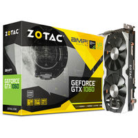 ZOTAC GeForce GTX 1060 AMP Edition / 1556-1771MHz / 6GB D5 8GHz / 192-bit / DVI, HDMI, 3x DP / 225W (8)