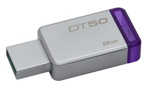 Kingston DataTraveler 50 8GB / Flash Disk / USB 3.0 / fialová