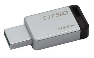 Kingston DataTraveler 50 128GB / Flash Disk / USB 3.0 / černá