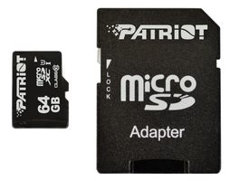 Patriot 64GB Micro SDXC  / Class 10 / adaptér
