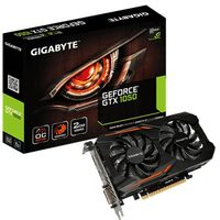 GIGABYTE GeForce GTX 1050 OC 2G / 1379-1518MHz / 2GB D5 7GHz / 128-bit / DVI, HDMI, DP / 75W