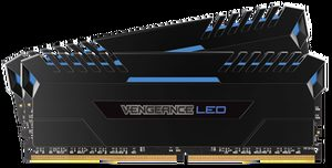 Corsair VENGEANCE Blue LED 32GB / 2x16GB / DDR4 /  3000MHz / PC4-24000 / CL15-17-17-35 / 1.35V / XMP2.0 / s chladičem