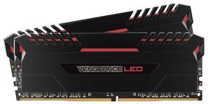 Corsair VENGEANCE Red LED 32GB / 2x16GB / DDR4 /  3000MHz / PC4-24000 / CL15-17-17-35 / 1.35V / XMP2.0 / s chladičem