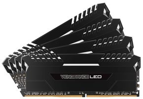 Corsair VENGEANCE White LED 32GB / 4x8GB / DDR4 /  2666MHz / PC4-21300 / 16-18-18-35 / 1.2V / XMP2.0 / s chladičem