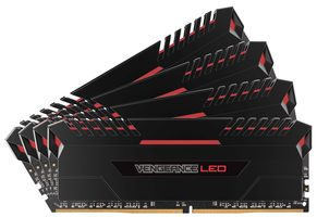 Corsair VENGEANCE Red LED 32GB / 4x8GB / DDR4 /  2666MHz / PC4-21300 / 16-18-18-35 / 1.2V / XMP2.0 / s chladičem