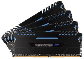 Corsair VENGEANCE Blue LED 32GB / 4x8GB / DDR4 /  3200MHz / PC4-25600 / 16-18-18-36 / 1.35V / XMP2.0 / s chladičem