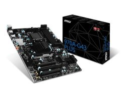MSI 970A-G43 PLUS / AMD 970+SB950 / DDR3 / SATA III RAID / USB 3.1 / GLAN / sc.AM3+ / ATX