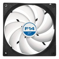 ARCTIC F14 Case Fan / 140 mm / Fluid Dynamic Bearing / 0.3 Sone @ 1350 RPM / 126 m3h