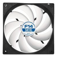 ARCTIC F14 Silent Case Fan / 140 mm / Fluid Dynamic Bearing / 0.08 Sone @ 800 RPM / 78 m3h / 3pin