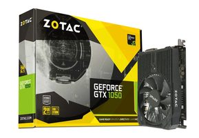 ZOTAC GTX 1050 Mini / 1354-1455MHz / 2GB D5 7GHz / 128-bit / DVI + HDMI + DP / 75W