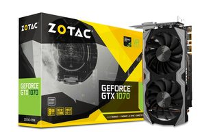 ZOTAC GeForce GTX 1070 Mini / 1518MHz / 8GB D5 8GHz / 256-bit / DVI+ HDMI+ 3x DP / 150W (8)