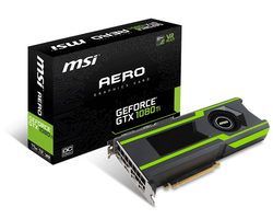 MSI GeForce GTX 1080 Ti AERO 11G OC / 1506-1620MHz / 11GB D5X 11GHz / 352-bit / HDMI, 3x DP / 250W (8+6)