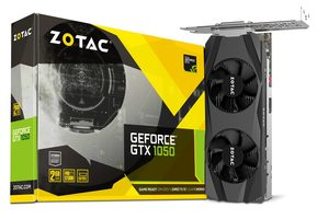 ZOTAC GeForce GTX 1050 Low Profile / 1354-1455MHz / 2GB D5 7GHz / 128-bit / DVI + HDMI + DP / 75W