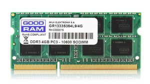 GOODRAM 4GB 1600MHz / SODIMM / DDR3 / CL11 / 1.35V