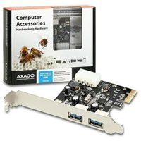 AXAGO PCEU-23R PCI-Express Adapter 2x USB3.0 Renesas + LP