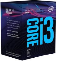 Intel Core i3-8100 @ 3.6GHz / 4C4T / 32kB 256kB 6MB / UHD Graphics 630 / 1151 / Coffee Lake / 65W