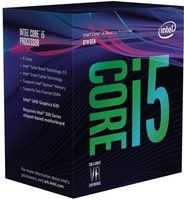Intel Core i5-8400 @ 2.8GHz / TB 4.0GHz / 6C6T / 32kB 256kB 9MB / UHD Graphics 630 / 1151 / Coffee Lake / 65W