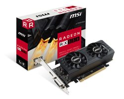 MSI Radeon RX 550 2GT LP OC / 1203 MHz / 2GB GDDR5 7GHz / 128-bit / DVI + HDMI  / Low profile