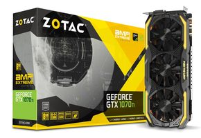 ZOTAC GeForce GTX 1070 Ti AMP! Extreme Edition / 1607-1683MHz / 8GB D5 8GHz / 256-bit / DVI + HDMI + 3x DP /