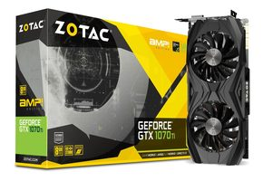 ZOTAC GeForce GTX 1070 Ti AMP! Extreme Edition / Dual fan / 1607-1683MHz / 8GB D5 8GHz / 256-bit / DVI + HDMI + 3x DP /