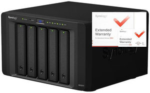 Synology DiskStation DS1517 (2GB) +2y / 5x HDD / Alpine AL-314 QC @1.7GHz / 2GB RAM / 2x USB 3.0 / 2x eSATA / 4x GLAN