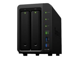 Synology DiskStation DS718+ / 2x HDD / Celeron J3455 @1.5GHz / 2GB RAM / 3x USB 3.0 / 1x e-SATA / 2x GLAN